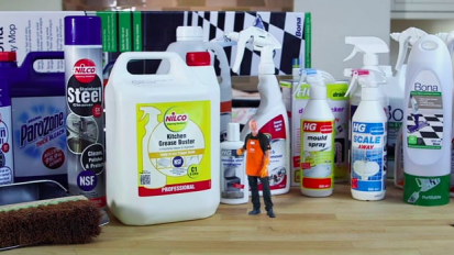 B&Q Mini Pete – cleaning products